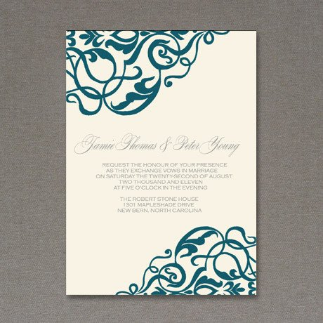 Free Printable Elegant Stationery Templates 5 Beautiful & Elegant Free Wedding Invitations