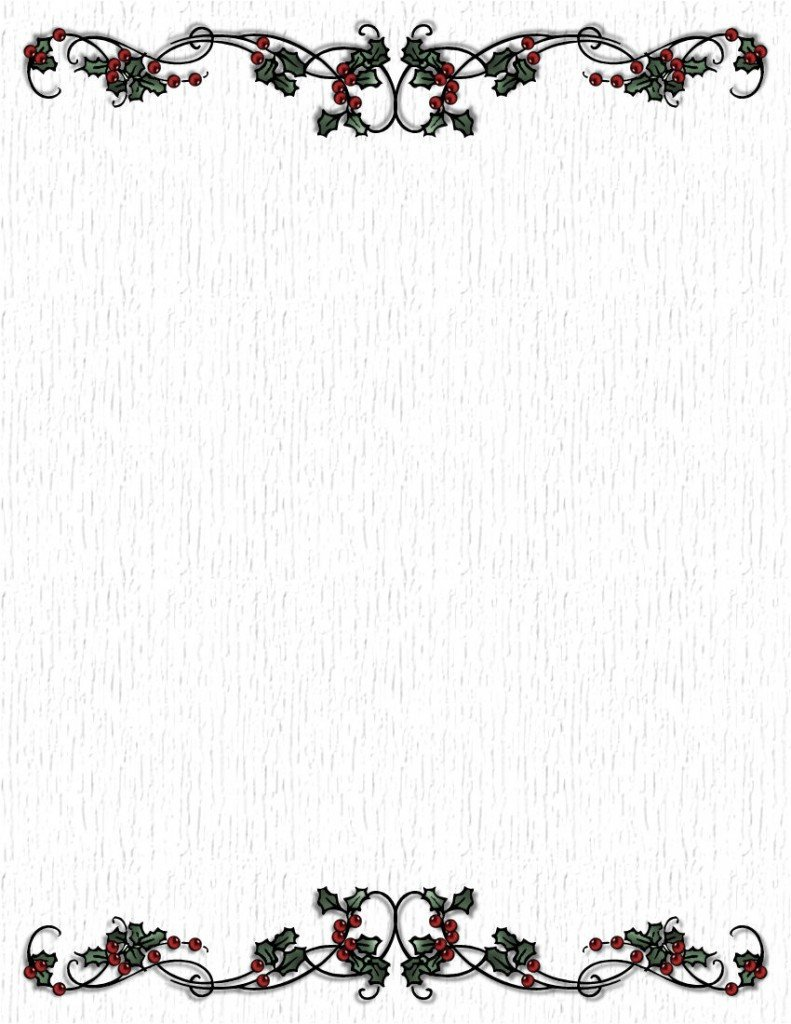 Free Printable Elegant Stationery Templates Black and White Christmas Stationary to Pin On