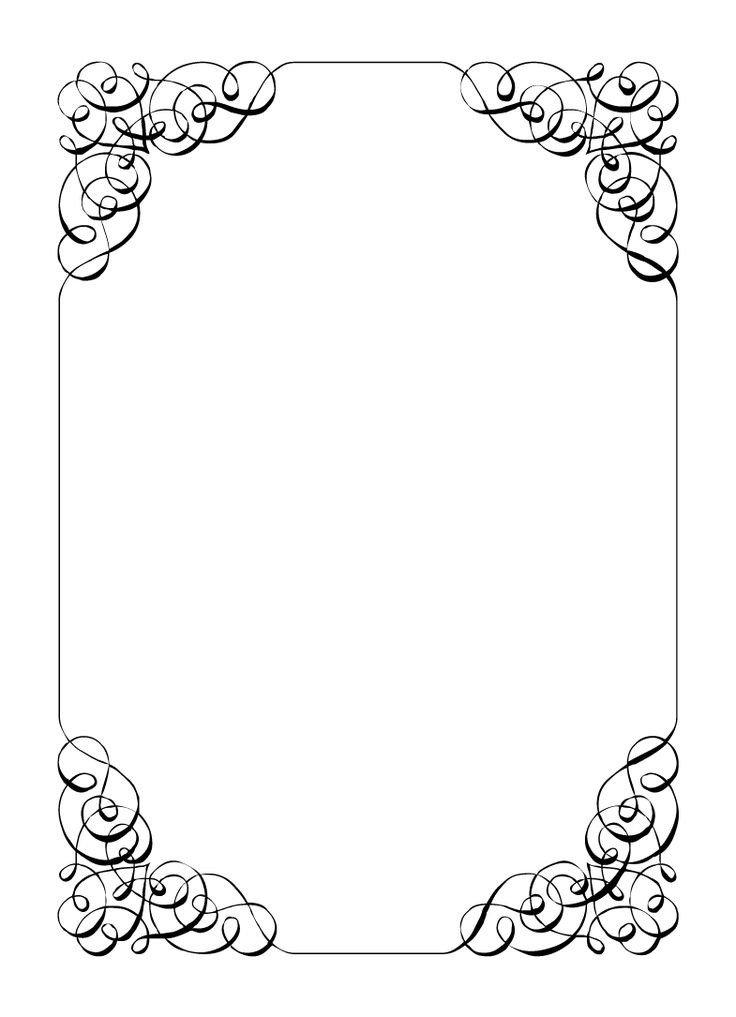 Free Printable Elegant Stationery Templates Borders and Frames