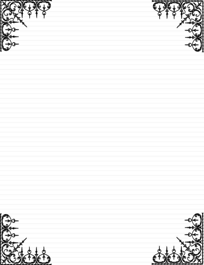 Free Printable Elegant Stationery Templates Day 5 Write A Note Card or Short Letter to A Loved One