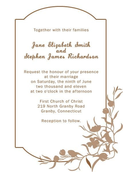 Free Printable Elegant Stationery Templates Elegant Floral Border Wedding Invitation Template