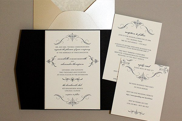 Free Printable Elegant Stationery Templates Elegant Pocketfold & Insert Cards