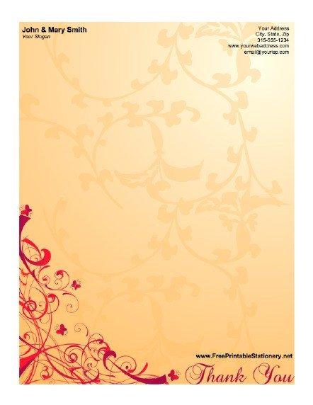 Free Printable Elegant Stationery Templates Elegant Thank You Stationery