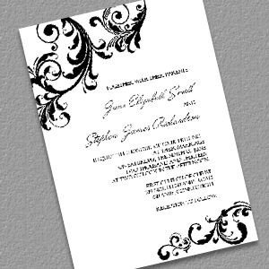 Free Printable Elegant Stationery Templates Elegant Wedding Invitation with Swirls Borders Diy Free