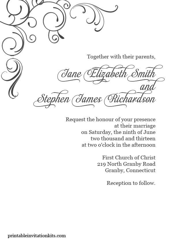 Free Printable Elegant Stationery Templates Free Pdf Download Simply Elegant Swirls Border Wedding