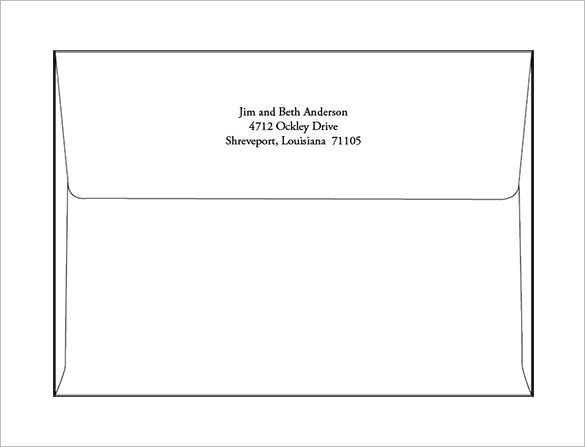 Free Printable Envelope Templates 9 A7 Envelope Templates Doc Psd Pdf