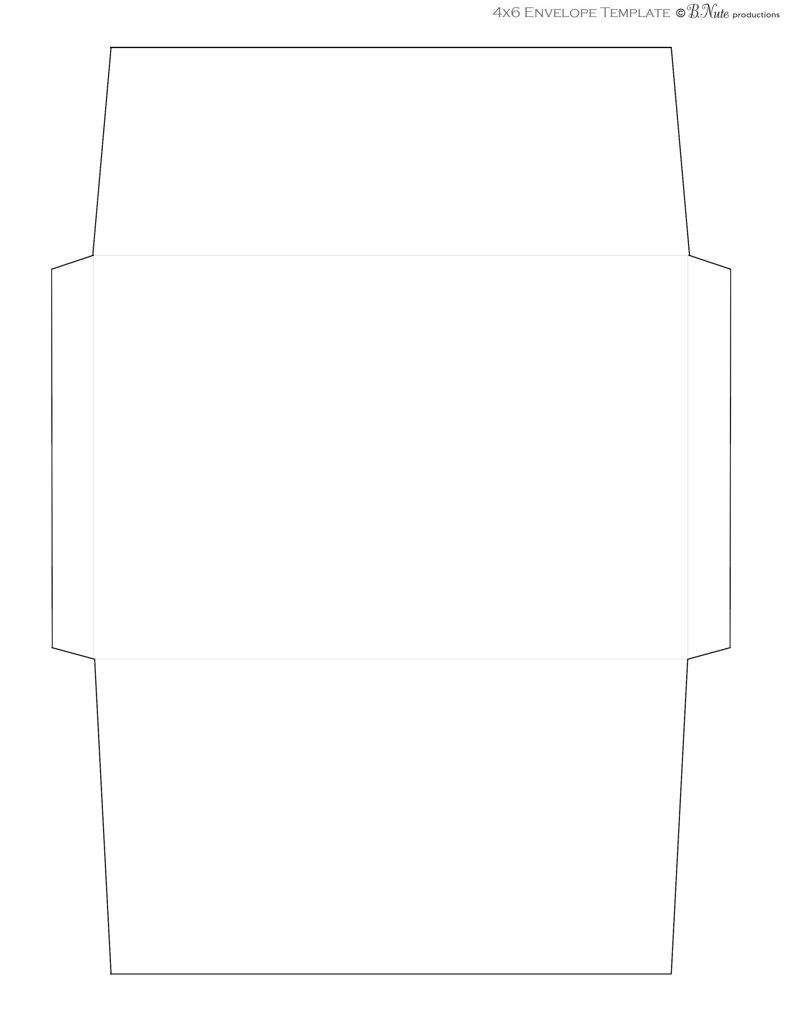 Free Printable Envelope Templates Bnute Productions Scrapbook Paper Ideas Printed Envelope