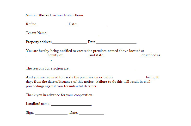 Free Printable Eviction Notice Template Eviction Notice Template