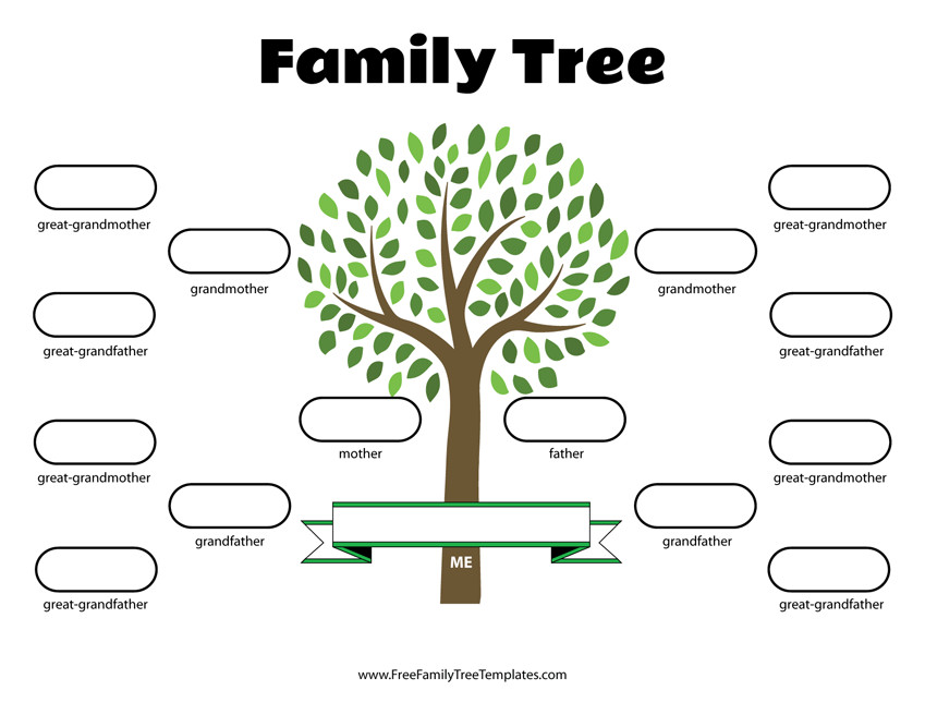 Free Printable Family Tree Template 4 Generation Family Tree Template – Free Family Tree Templates