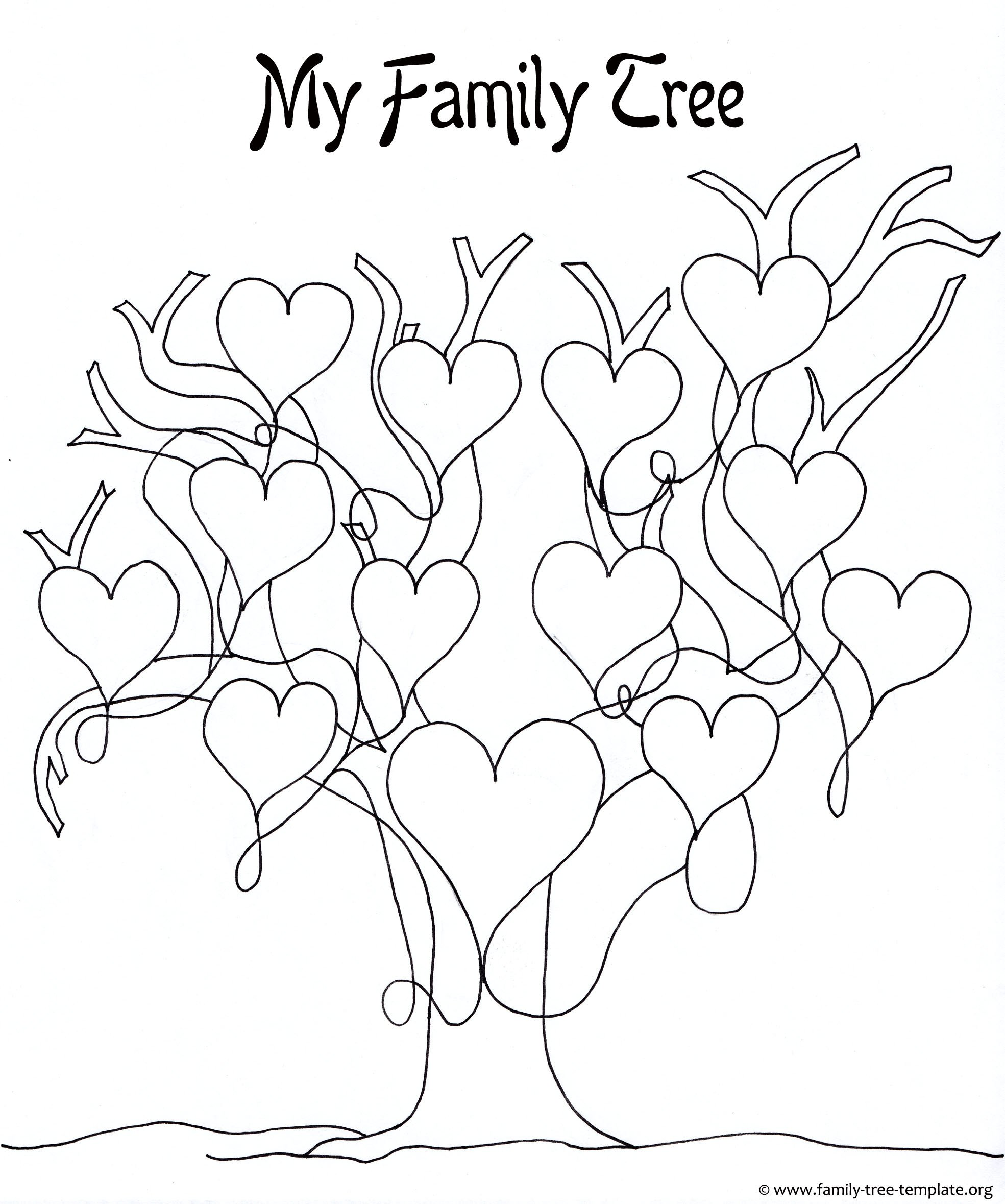 Free Printable Family Tree Template A Printable Blank Family Tree to Make Your Kids Genealogy
