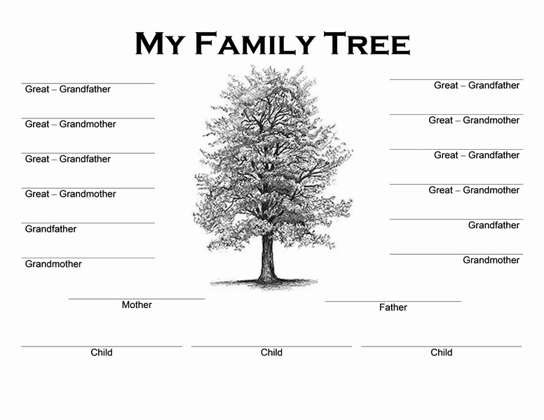 Free Printable Family Tree Template Family Tree Templates Word Word Excel Samples