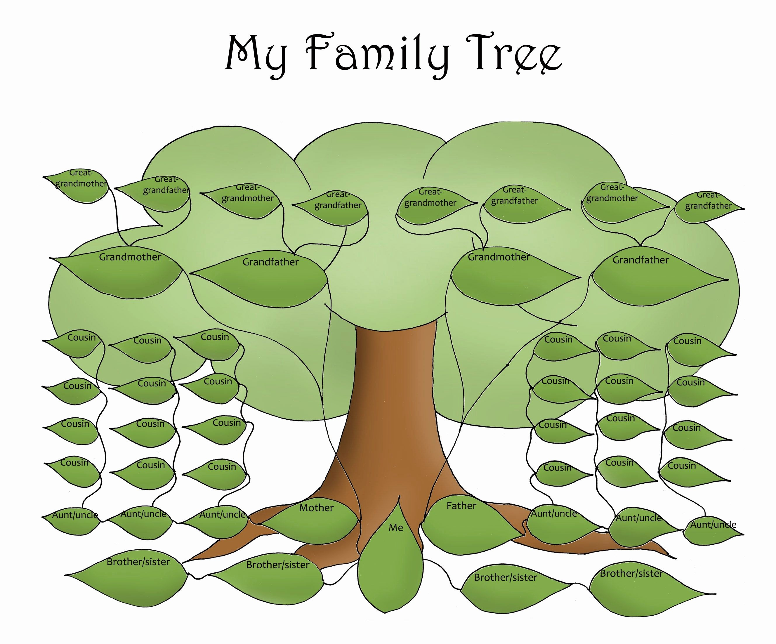 Free Printable Family Tree Template Free Editable Family Tree Template Daily Roabox
