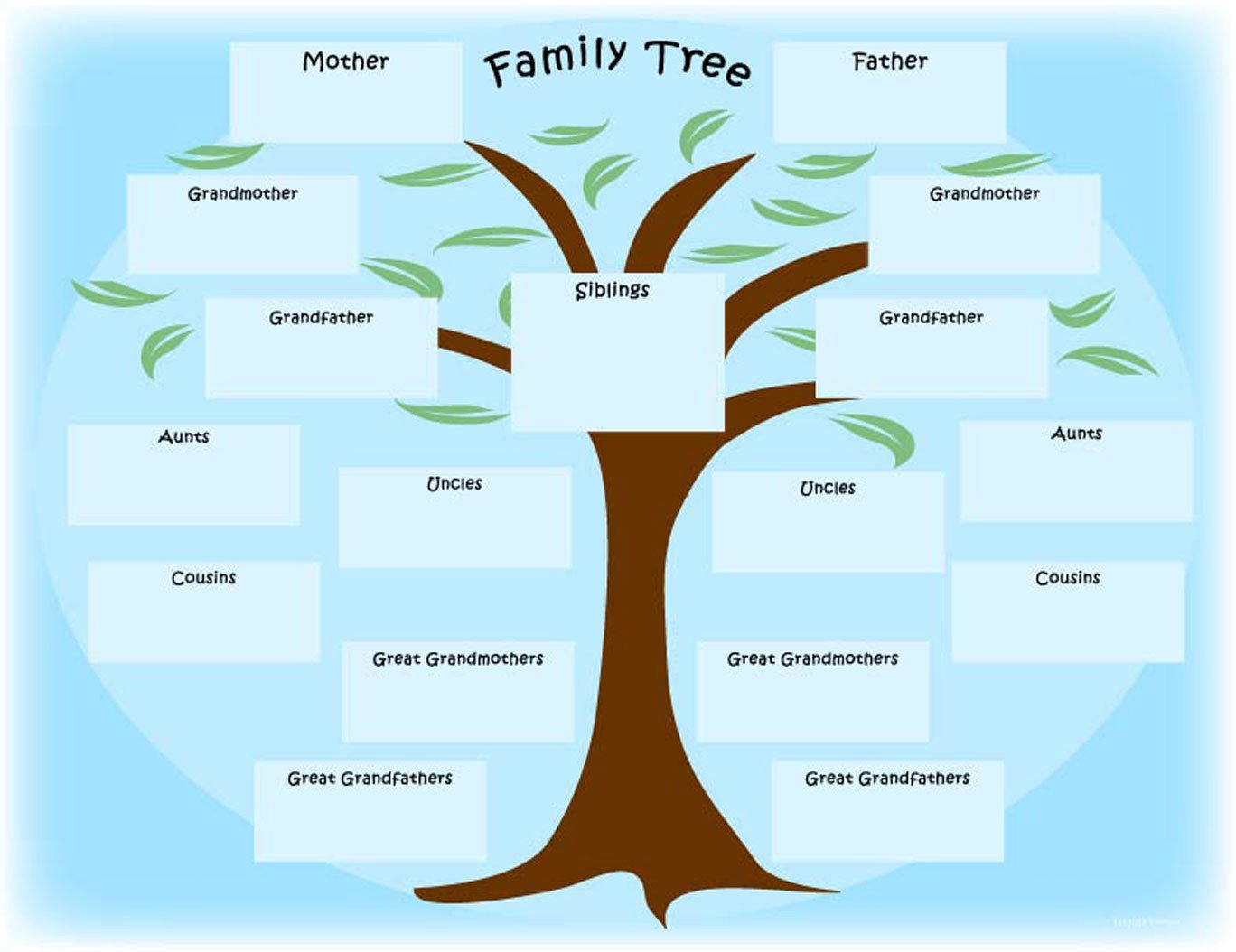 "Free Printable Family Tree Template Printable Newspaper Activity ""the Year I Was Born"