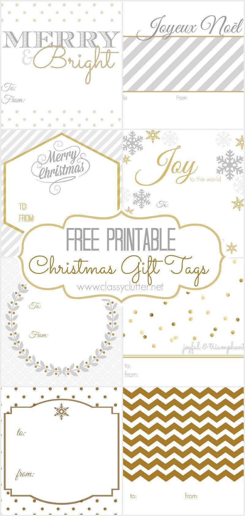 Free Printable Favor Tags Free Christmas Gift Tags 8 Printable Designs Classy