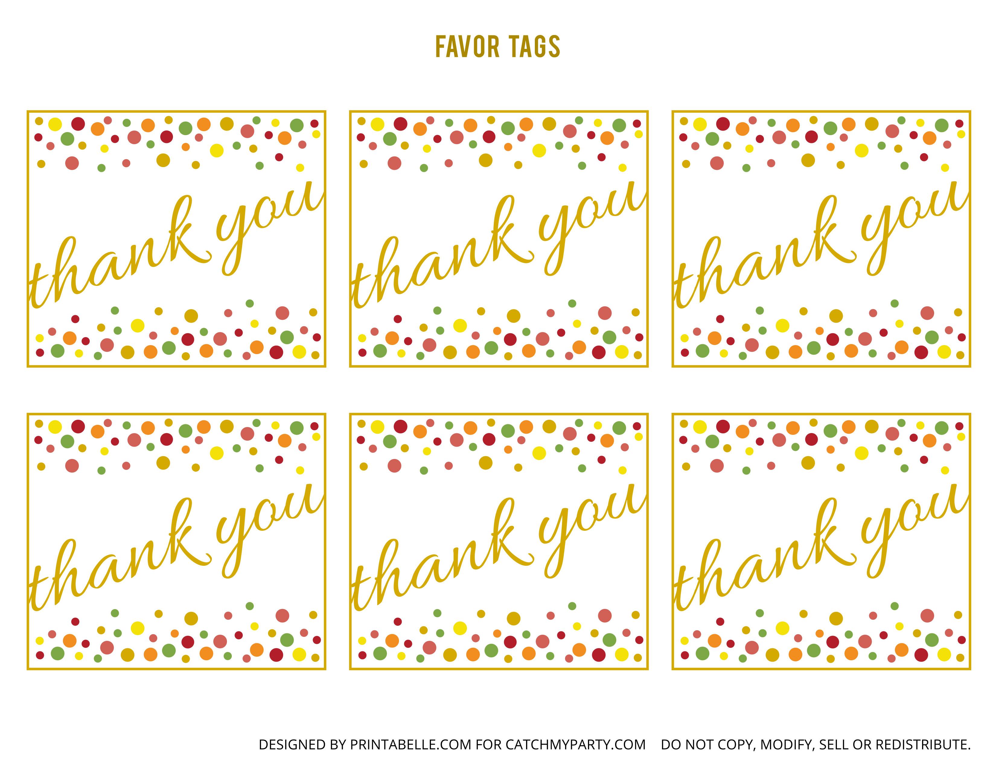 Free Printable Favor Tags Free Gold and Polka Dot Birthday Printables