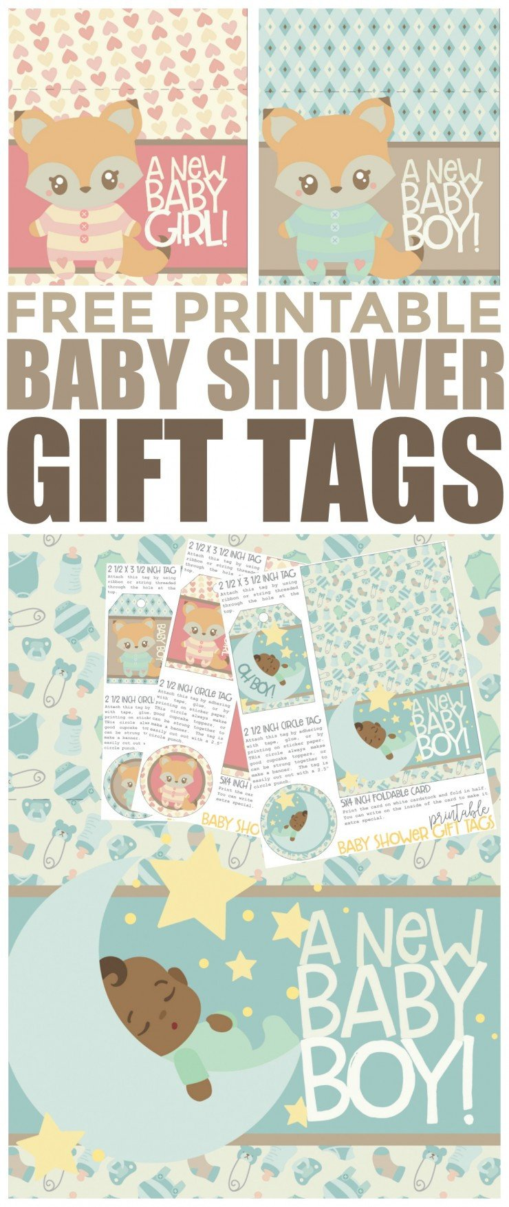 Free Printable Favor Tags Free Printable Baby Shower Gift Tags Frugal Mom Eh