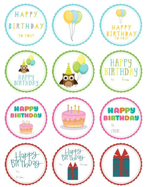 Free Printable Favor Tags Free Printable Birthday Gift Tags