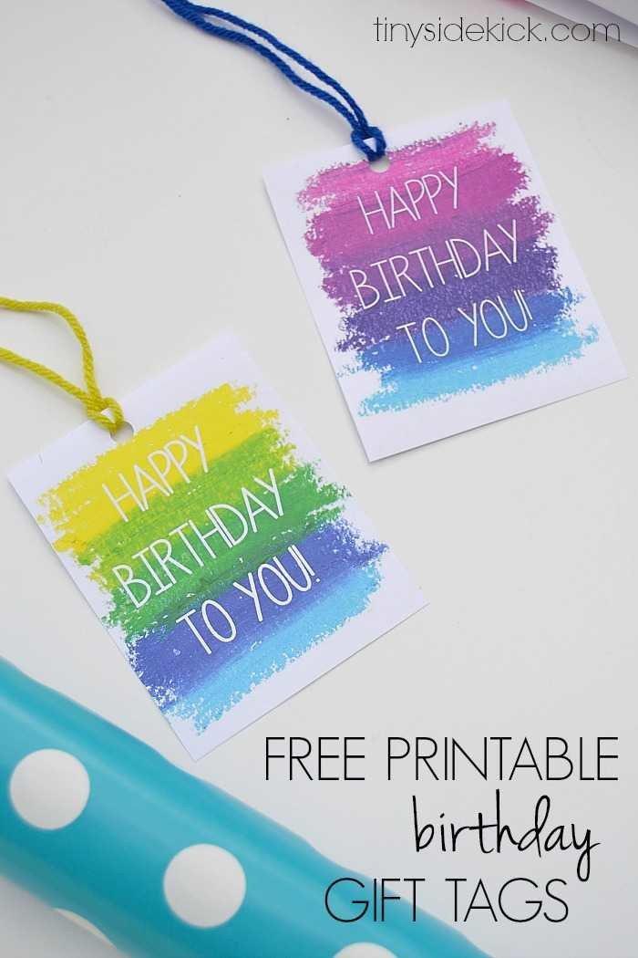 Free Printable Favor Tags Free Printable Birthday Gift Tags