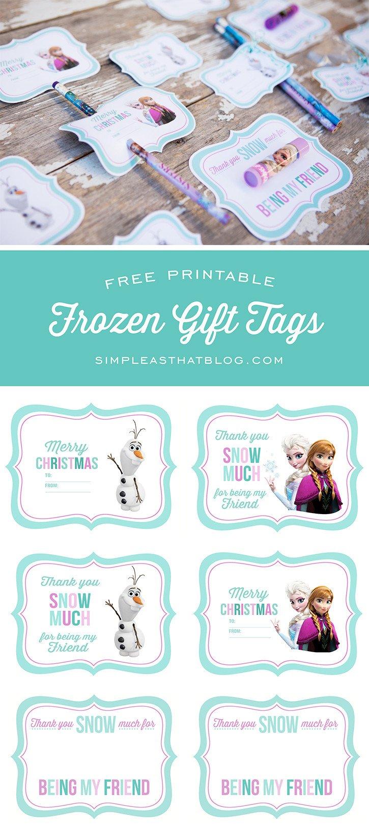 Free Printable Favor Tags Free Printable Disney Frozen Gift Tags