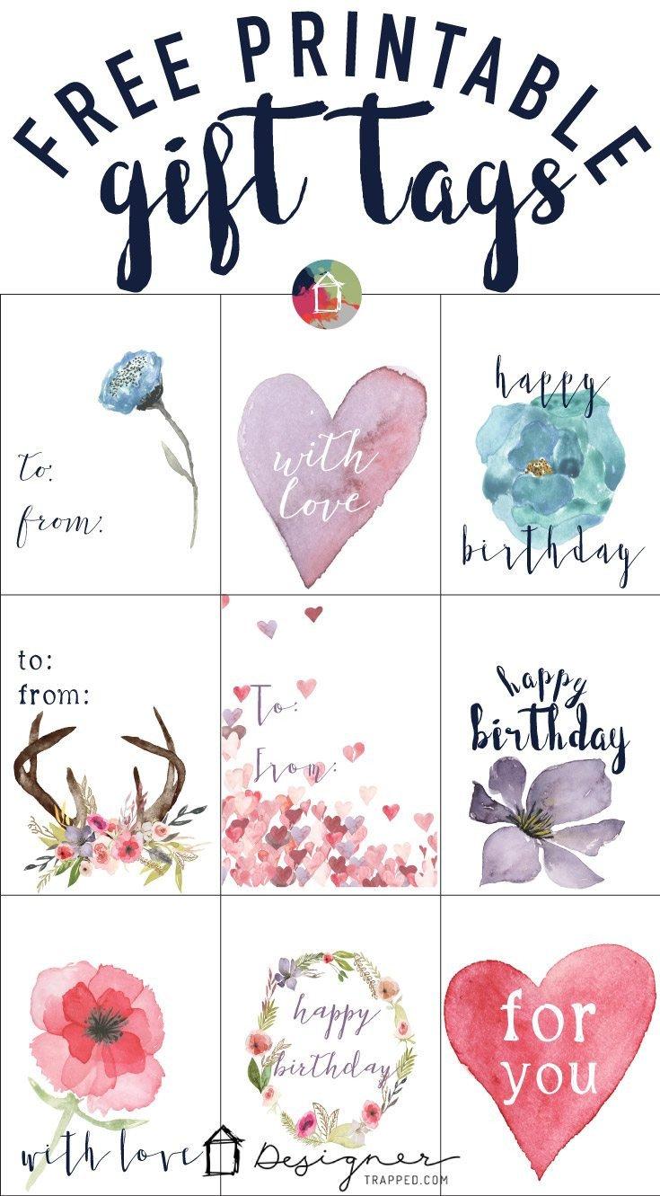 Free Printable Favor Tags Free Printable Gift Tags for Birthdays