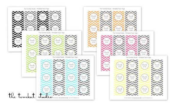 Free Printable Favor Tags Hgtv Free Printable Chevron Invitations & Favor Tags In