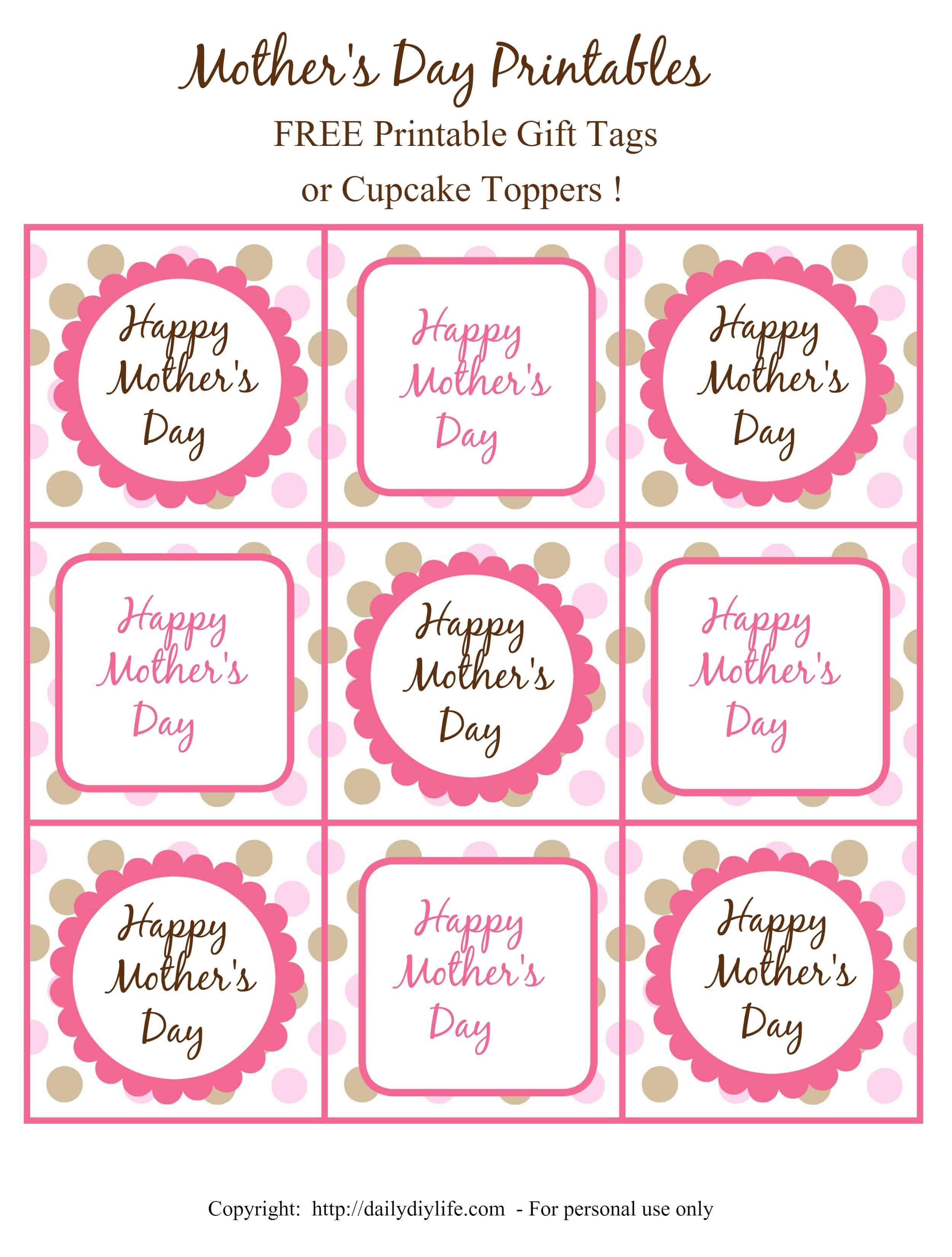 Free Printable Favor Tags Mother S Day Free Printable Gift Tags or Cupcake toppers