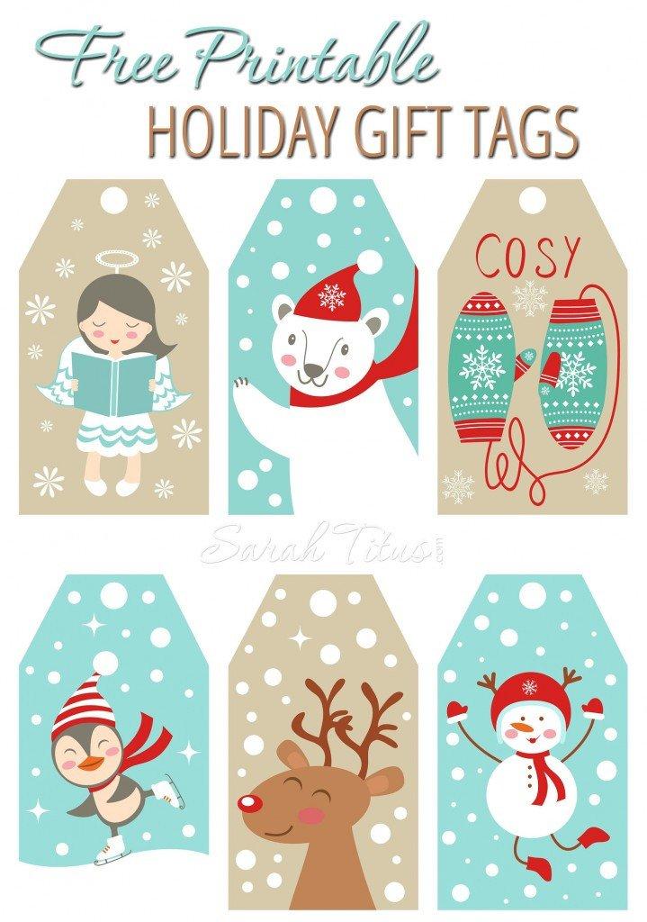 Free Printable Favor Tags Printable Holiday Gift Tags the Idea Room