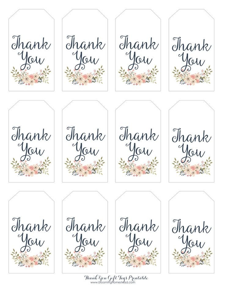 Free Printable Favor Tags Thank You Gift Tags Baby Girl Party Ideas