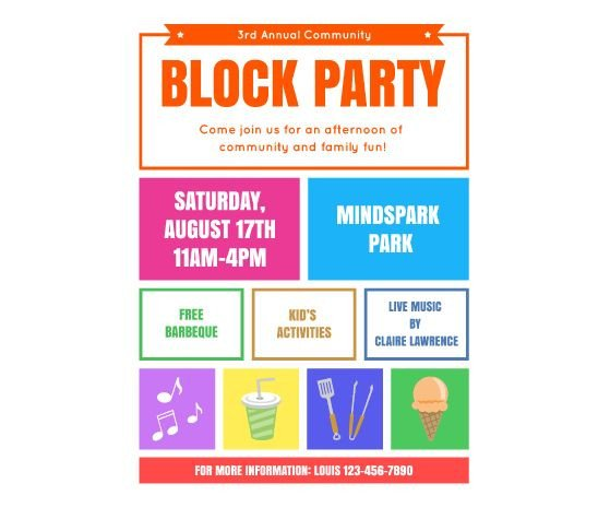 Free Printable Flyer Templates Download This Block Party Flyer Template and Other Free