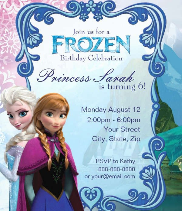 Free Printable Frozen Invites 13 Frozen Invitation Templates Word Psd Ai