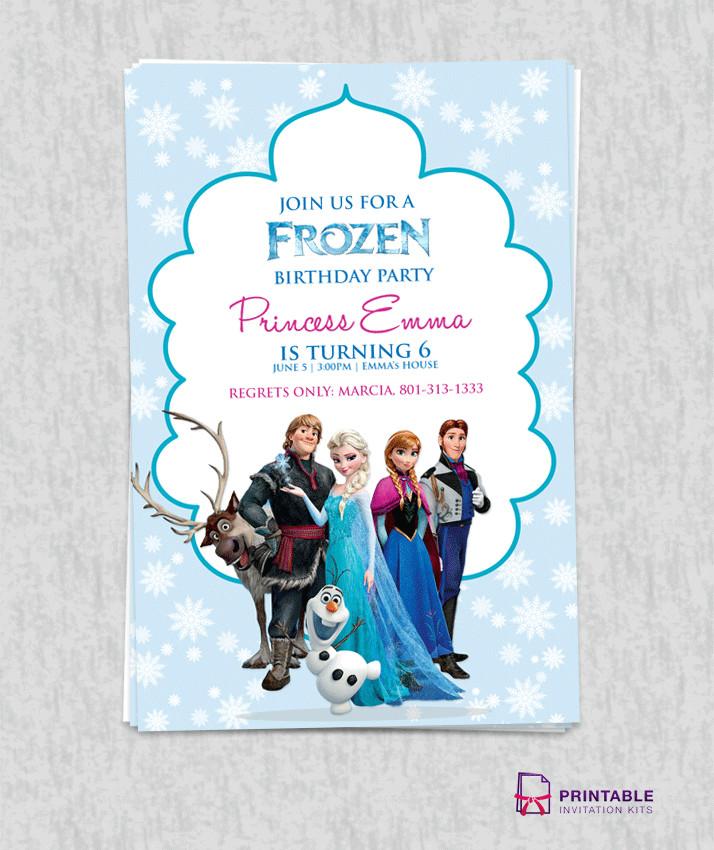 Free Printable Frozen Invites Free Frozen Birthday Invitation Template ← Wedding