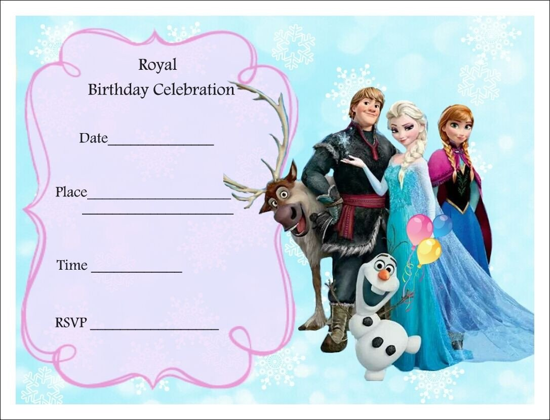 Free Printable Frozen Invites Free Frozen Party Invitations Frozen Party