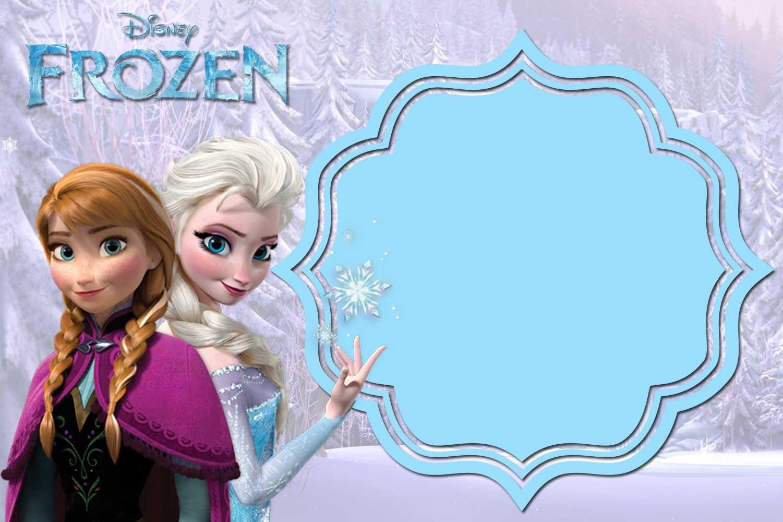 Free Printable Frozen Invites Free Printable Frozen Anna and Elsa Invitation Templates
