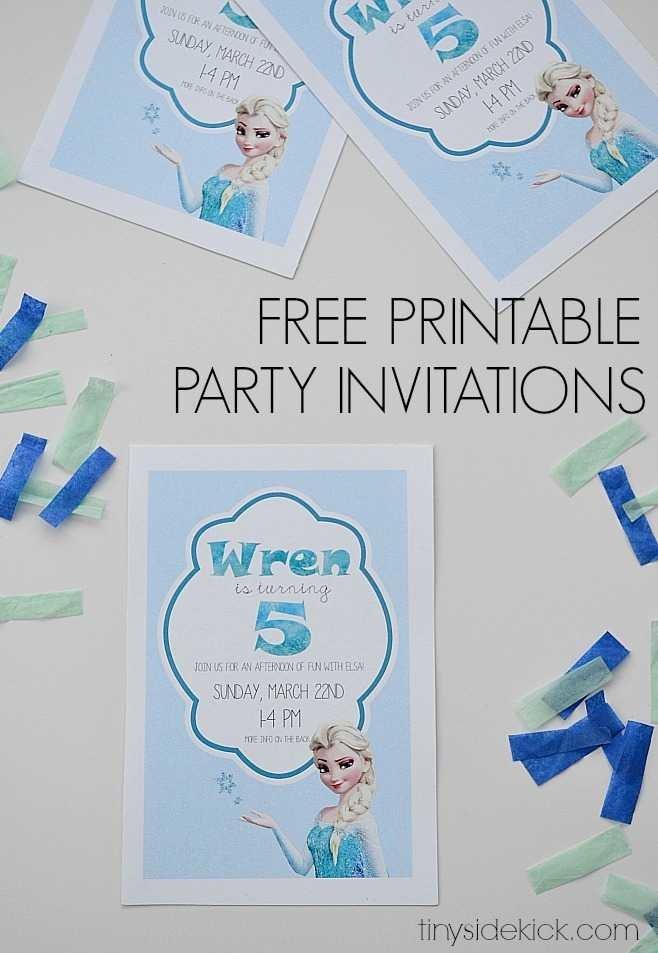 Free Printable Frozen Invites Free Printable Frozen Birthday Party Invitations