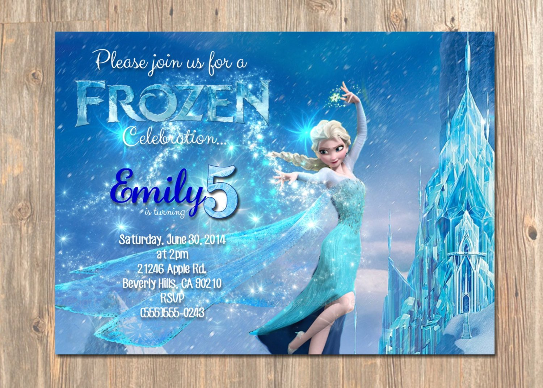Free Printable Frozen Invites Frozen Birthday Invitation Elsa Frozen Invitation Printable