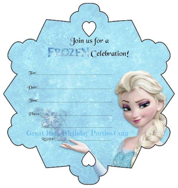 Free Printable Frozen Invites Frozen Party