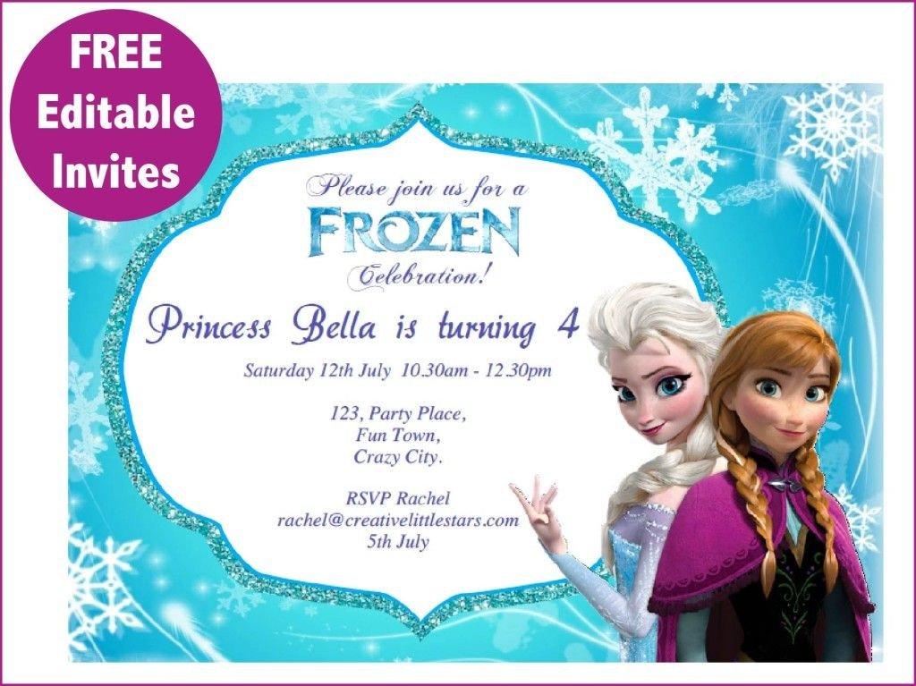 Free Printable Frozen Invites Frozen Printables Free Free Frozen Invite 01