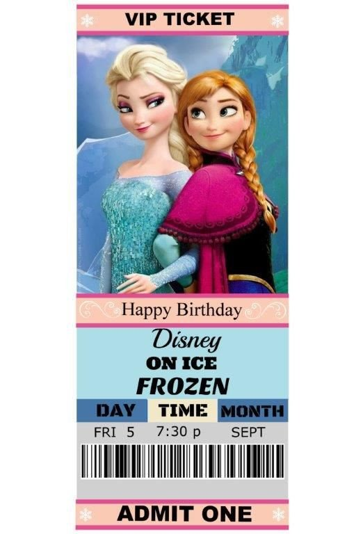 Free Printable Frozen Invites Our Daughter Madison S 6th Birthday T Disney Ice