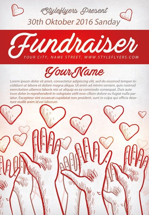 Free Printable Fundraiser Flyer Templates Munity Fundraiser Free Flyer Template Download for