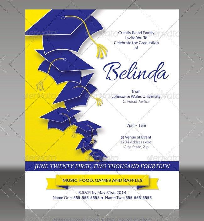 Free Printable Graduation Announcement Template 25 Graduation Invitation Templates Psd Vector Eps Ai