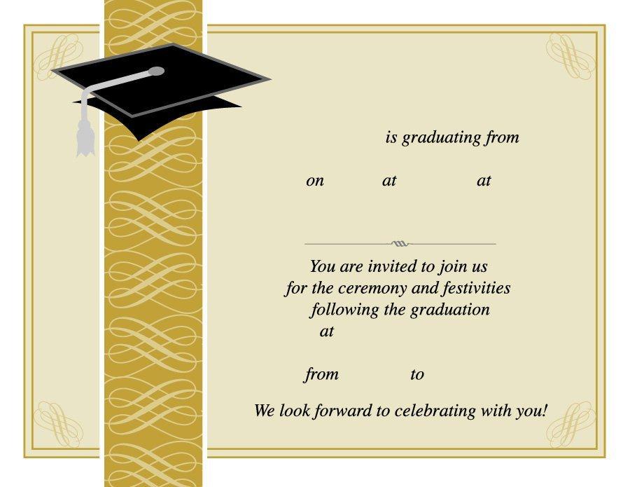 Free Printable Graduation Announcement Template 40 Free Graduation Invitation Templates Template Lab