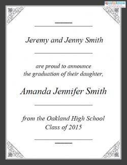 Free Printable Graduation Announcement Template Free Printable Graduation Announcements