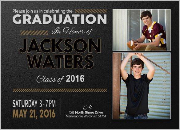 Free Printable Graduation Invitations 25 Graduation Invitation Templates Psd Vector Eps Ai