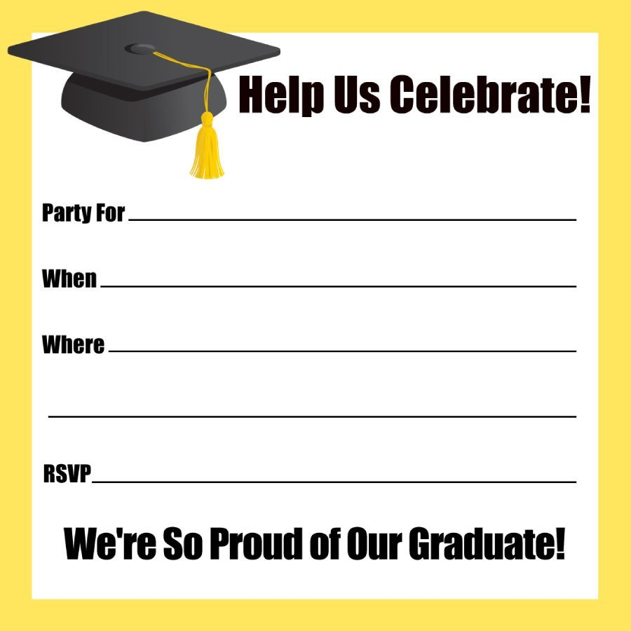 Free Printable Graduation Invitations 40 Free Graduation Invitation Templates Template Lab