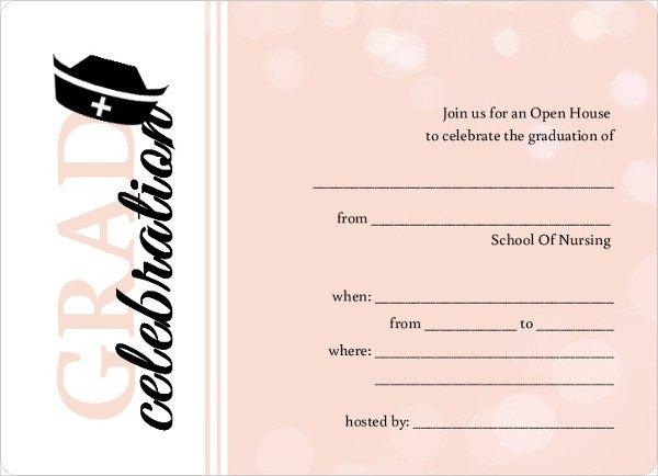 Free Printable Graduation Invitations 42 Printable Graduation Invitations Psd Ai Word