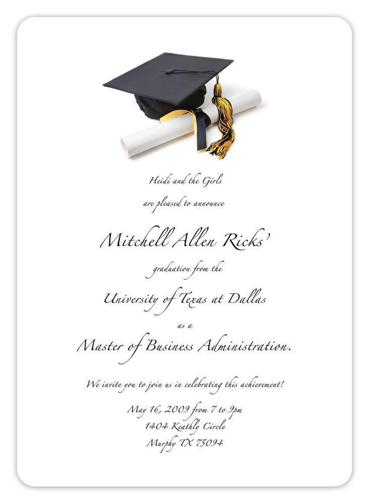 Free Printable Graduation Invitations Best 25 Graduation Invitation Templates Ideas On