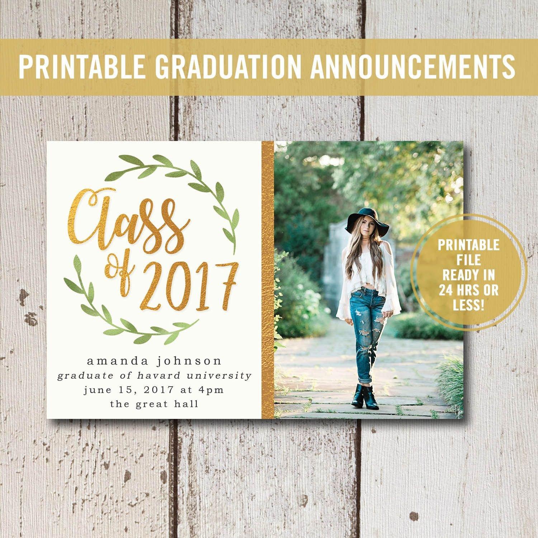Free Printable Graduation Invitations College Graduation Invitation Printable High School