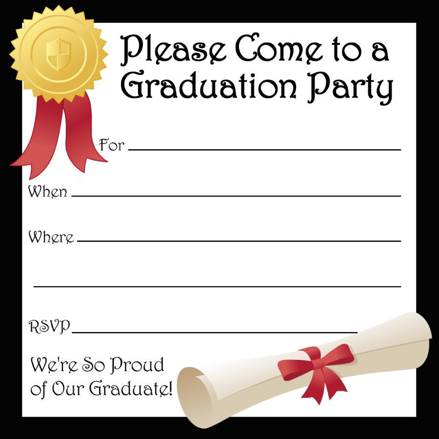 Free Printable Invitation Templates 40 Free Graduation Invitation Templates Template Lab