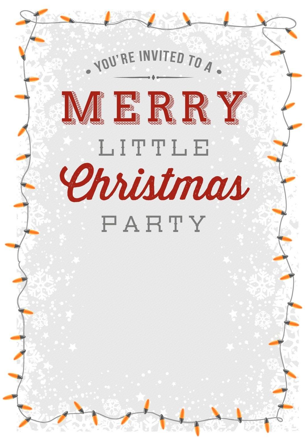 Free Printable Invitation Templates A Merry Little Party Free Printable Christmas Invitation