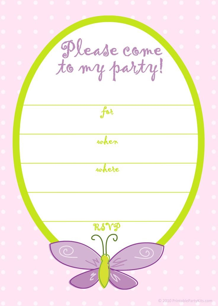 Free Printable Invitation Templates Free Printable Girls Birthday Invitations – Free Printable